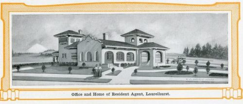 Image of 3206 NE Glisan from 1912 Laurelhurst real estate brochure. Source: Architectural Heritage Center library