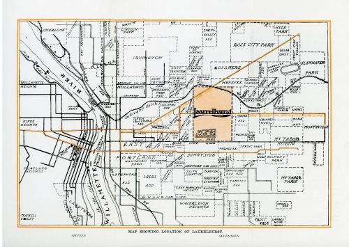 c.1912 map of the Laurelhurst neighborhood. Source: Architectural Heritage Center